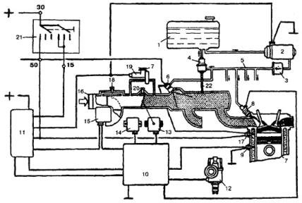 Рис.1 — Схема системы впрыска